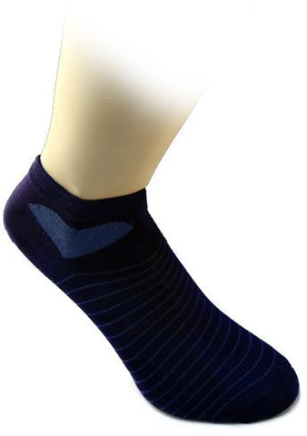 Cotton Home 127087 Socks Horizontally Striped For Women-Navy