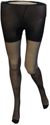 Silvy Colon Voiles Pantyhose - Black, Large