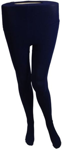 Silvy Opaque Pantyhose - Navy Blue, Large