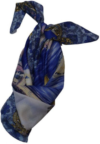 Printed Scarf for Women - Multicolor, Free Size