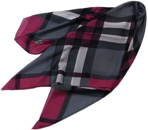 Checked Scarf for Women - Multicolor, Free Size