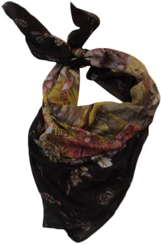 Floral Printed Scarf for Women - Multicolor, Free Size