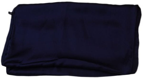 Satin Scarf for Women - Navy, Free Size