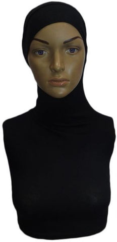 Neck Bonnet for Women - Black, Free Size