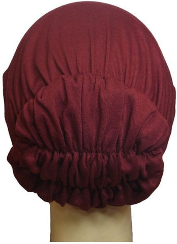 Cotton Bonnet for Women - Wine, Free Size