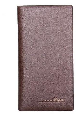 Long Leather wallet coffee color for Men by Bogesi
