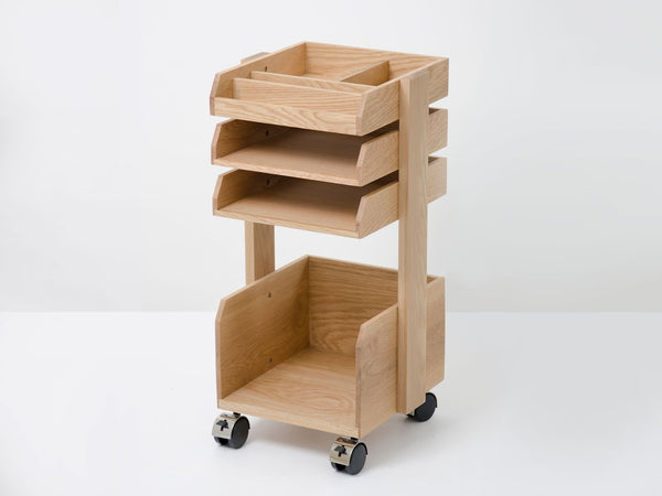 Oak Desk Trolley