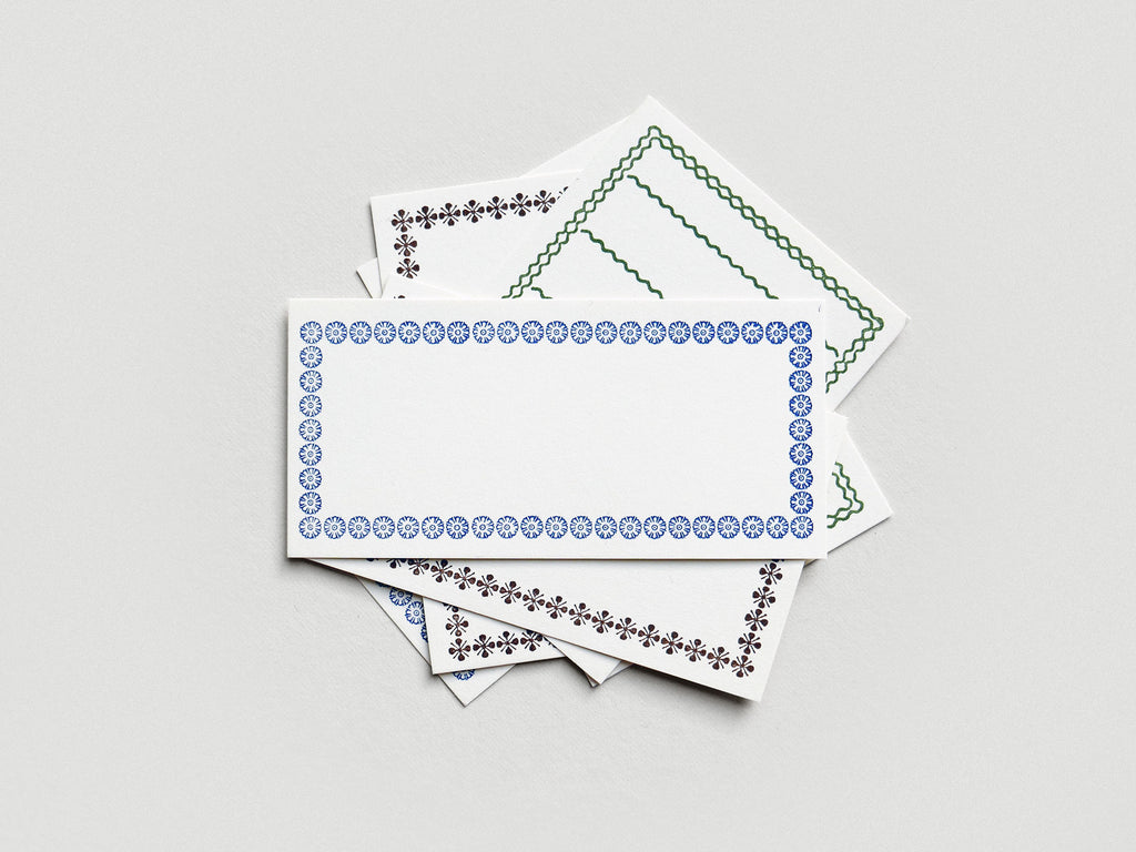 Letterpress Border Cards