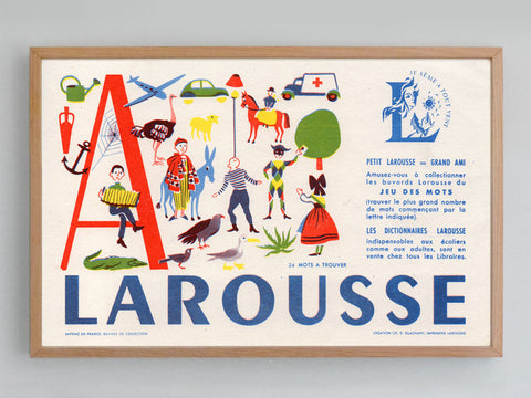 French Alphabet Blotter (1960s)