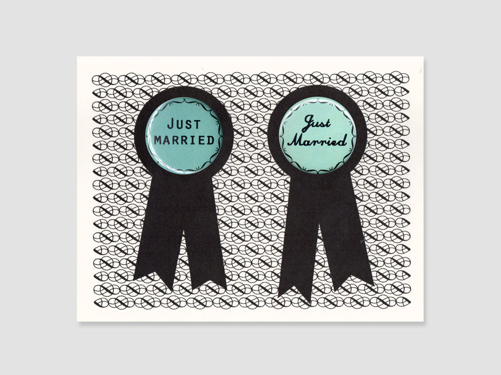 Just Married Badge Card
