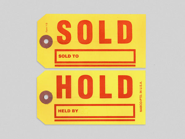 Hold/Sold Tag (x5)