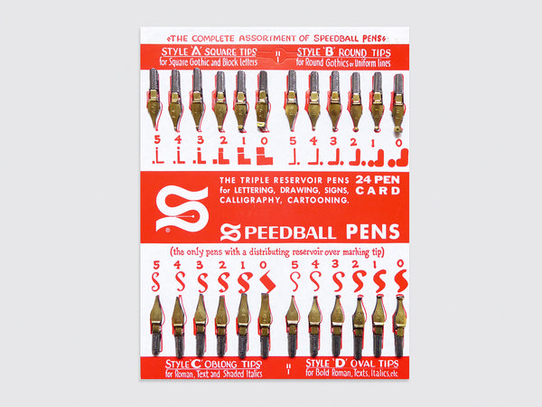 Speedball Nib Display (1960s)