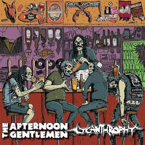 "The Afternoon Gentlemen / Lycanthrophy ‎– The Afternoon Gentlemen / Lycanthrophy 10"" (Orange / Black Swirl Vinyl)"
