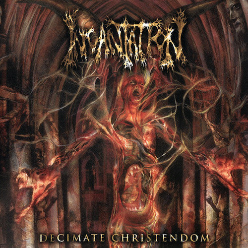 Incantation ‎– Decimate Christendom LP (Purple / Oxblood Marbled Vinyl) - Grindpromotion Records