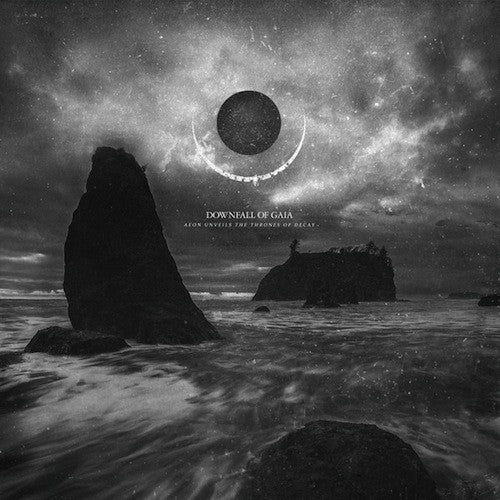 Downfall Of Gaia ‎– Aeon Unveils The Thrones Of Decay 2XLP (White With Golden Haze Vinyl + Poster) - Grindpromotion Records