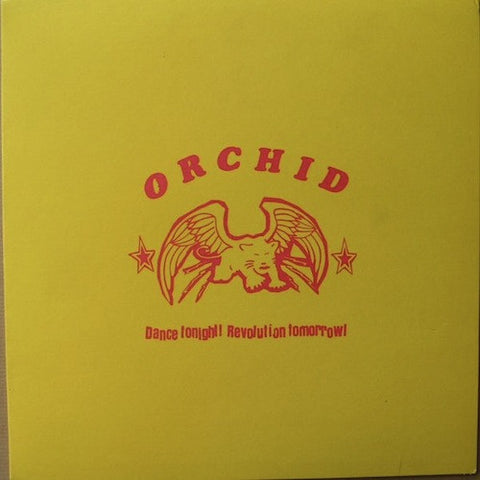"Orchid ‎– Dance Tonight! Revolution Tomorrow! 10"" (Black / Yellow Split Vinyl)"