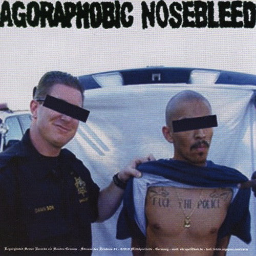"Agoraphobic Nosebleed / Crom ‎– Agoraphobic Nosebleed / Crom 7"" - Grindpromotion Records"