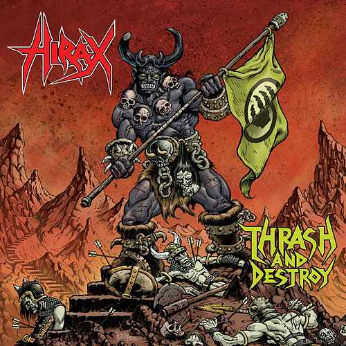 Hirax ‎– Thrash And Destroy 2XLP (Red / Green Vinyl) - Grindpromotion Records
