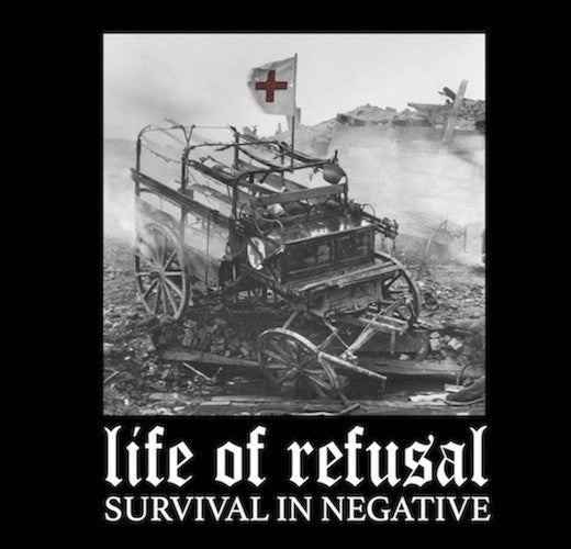 "Life Of Refusal - Survival In Negative 7"" (Clear Brown Vinyl) - Grindpromotion Records"