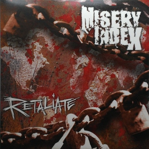 "Misery Index ‎– Retaliate LP + 7"" (Green/Black Splatter Vinyl + Single Side 7"") - Grindpromotion Records"
