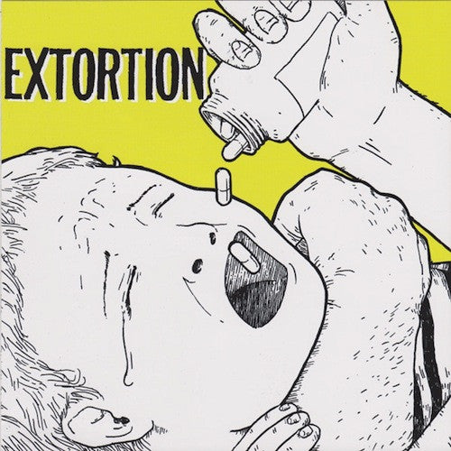 "Extortion / Jed Whitey ‎– Extortion / Jed Whitey 7"" (Yellow Vinyl) - Grindpromotion Records"