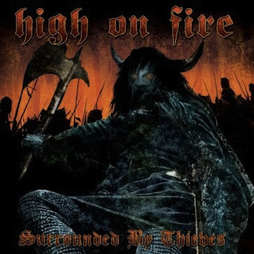 High On Fire ‎– Surrounded By Thieves 2xLP (Sea Blue Splatter Vinyl) - Grindpromotion Records