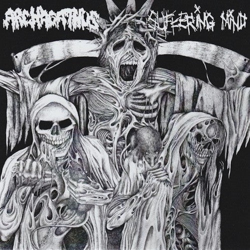 "Archagathus / Suffering Mind ‎– Archagathus / Suffering Mind 7"" (S/side) - Grindpromotion Records"