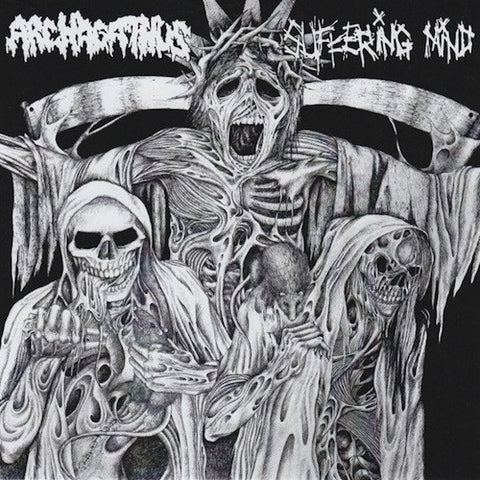 "Archagathus / Suffering Mind ‎– Archagathus / Suffering Mind 7"" (S/side)"
