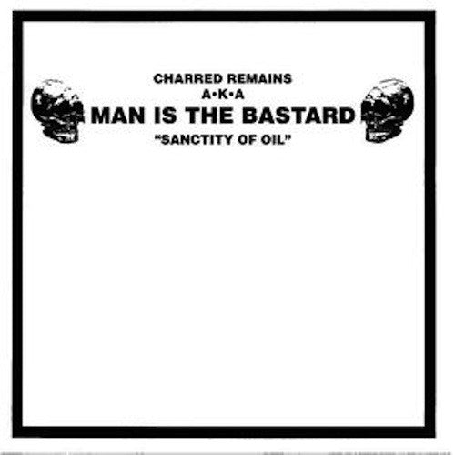 "Charred Remains A·K·A Man Is The Bastard / Bizarre Uproar ‎– Sanctity Of Oil / M3A1 Sub-machine Gun 10"" (Green Marble Vinyl)"