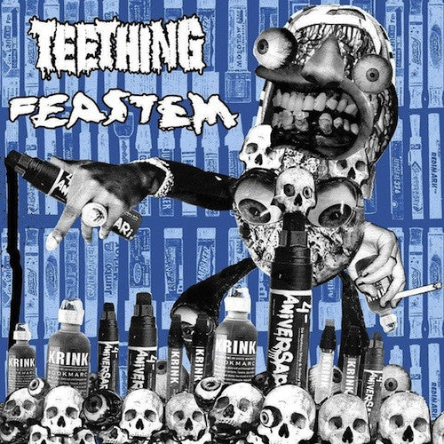 Teething / Feastem ‎– Split 7""