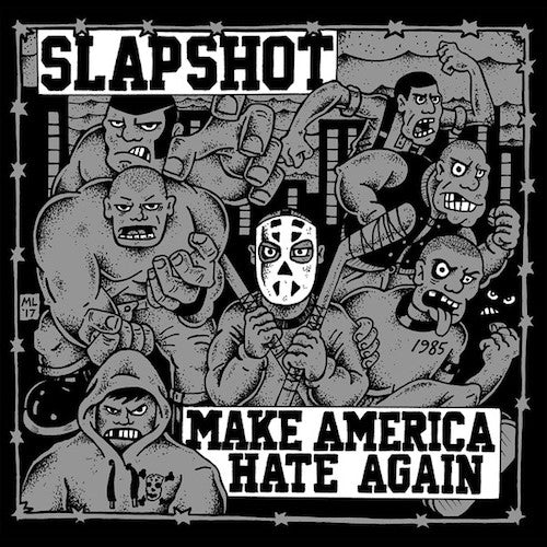 Slapshot ‎– Make America Hate Again LP (Silver Vinyl) - Grindpromotion Records