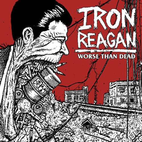 Iron Reagan ‎– Worse Than Dead LP (Green Vinyl) - Grindpromotion Records