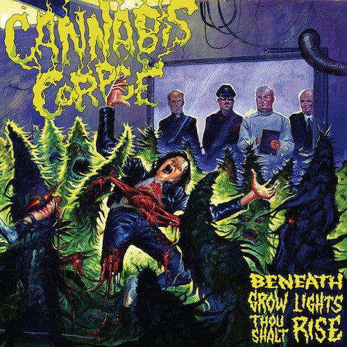 Cannabis Corpse ‎– Beneath Grow Lights Thou Shalt Rise (Black in Blue Vinyl) - Grindpromotion Records