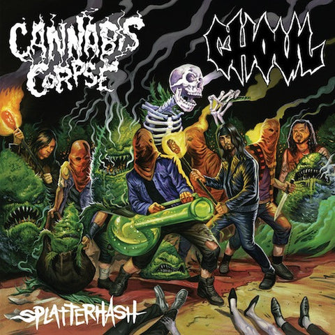 Ghoul / Cannabis Corpse ‎– Splatterhash LP (Clear with Green and Orange Splatter Vinyl)