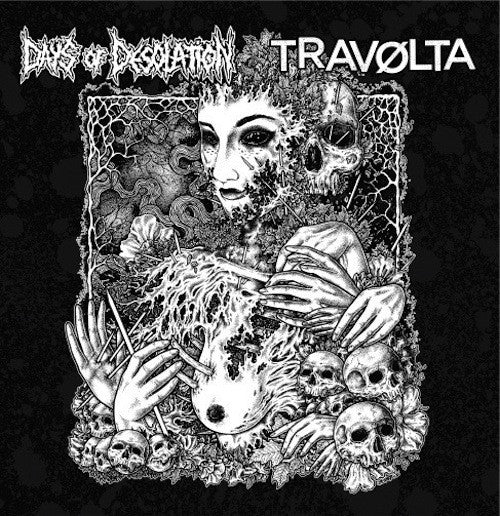 "Days Of Desolation / Travølta ‎– Days of Desolation / Travølta 10"" - Grindpromotion Records"