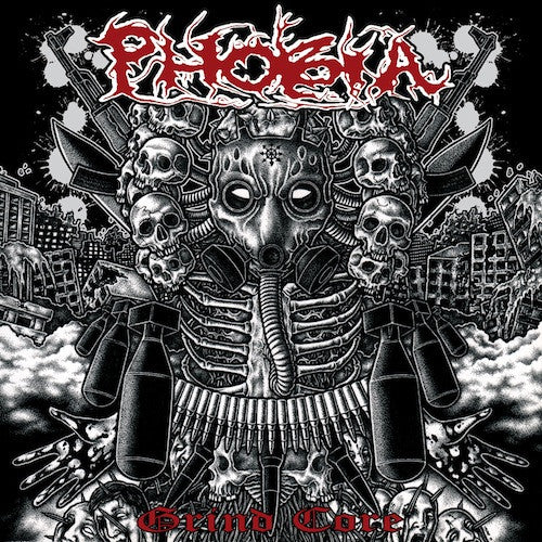 "Phobia ‎– Grind Core 7"" (Brown Vinyl) - Grindpromotion Records"