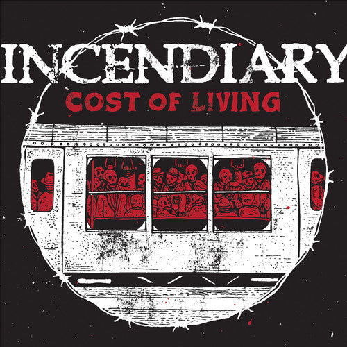 Incendiary ‎– Cost Of Living LP (Black White Mix Vinyl) - Grindpromotion Records