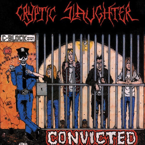 Cryptic Slaughter ‎– Convicted LP (Red Vinyl) - Grindpromotion Records