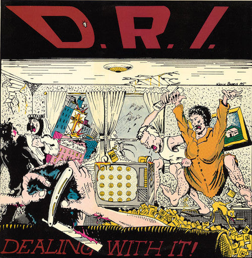 D.R.I. ‎– Dealing With It LP (Clear Vinyl)
