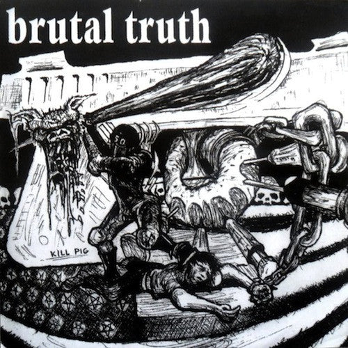 "Spazz / Brutal Truth ‎– Spazz / Brutal Truth 7"" - Grindpromotion Records"