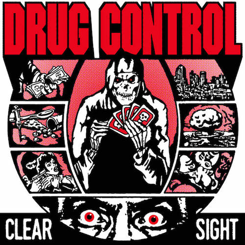 "Drug Control ‎– Clear Sight 7"" (Red Vinyl) - Grindpromotion Records"
