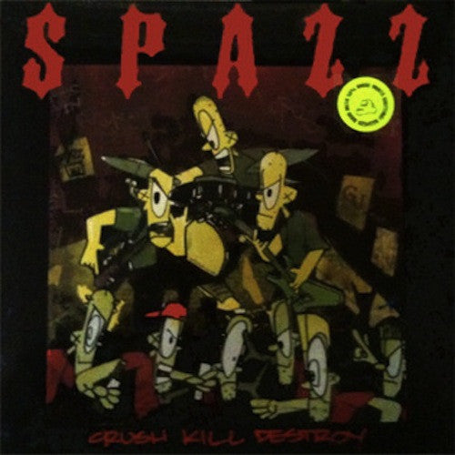 Spazz ‎– Crush Kill Destroy LP (Green Splatter Vinyl) - Grindpromotion Records