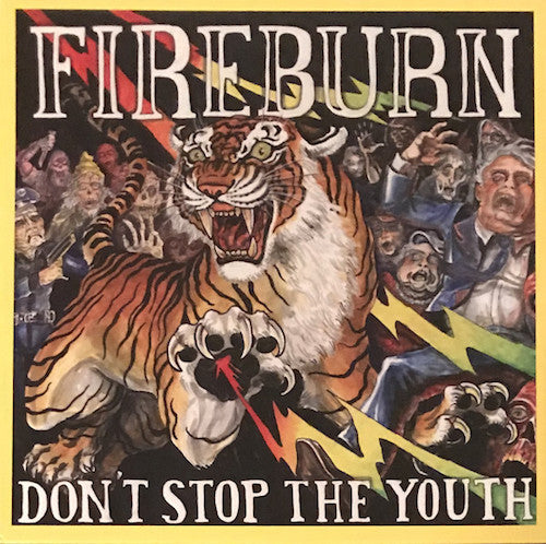 Fireburn ‎– Don't Stop The Youth LP (Red w/Black Smoke Vinyl) - Grindpromotion Records