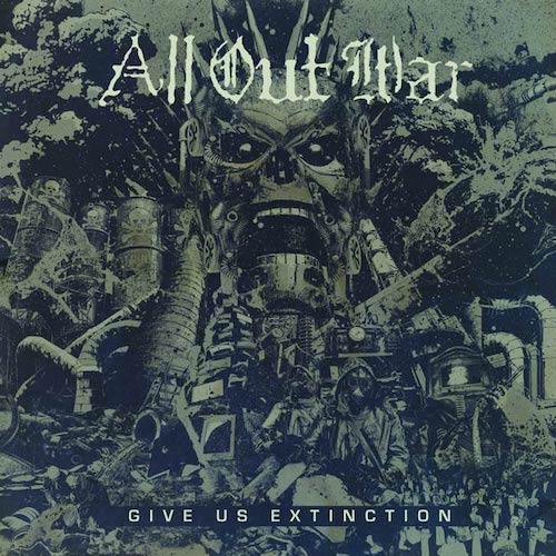 All Out War ‎– Give Us Extinction LP (Clear Vinyl) - Grindpromotion Records