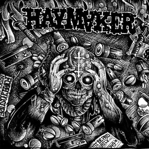 Haymaker ‎– Taxed...Tracked...Inoculated...Enslaved LP (Blue Vinyl) - Grindpromotion Records