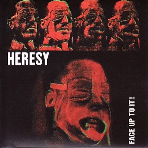 Heresy ‎– Face Up To It! LP (Pink vinyl)