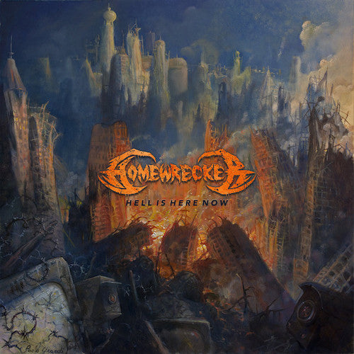 Homewrecker ‎– Hell Is Here Now LP (Transparent Yellow Vinyl) - Grindpromotion Records