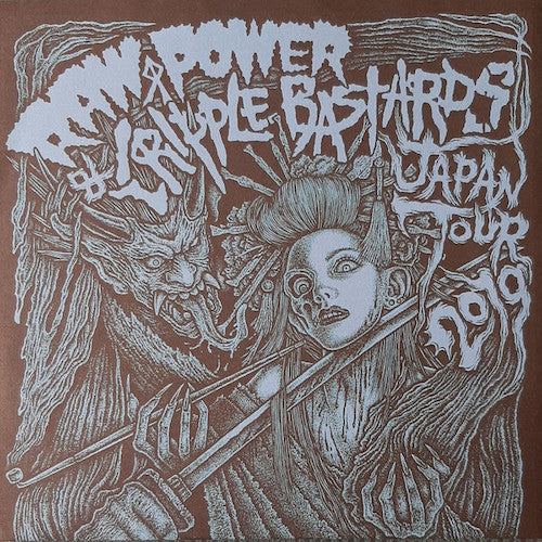 "Raw Power  / Cripple Bastards ‎– Japan Tour 2019 7"" - Grindpromotion Records"