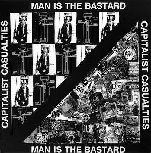 Capitalist Casualties / Man Is The Bastard ‎– Capitalist Casualties / Man Is The Bastard LP - Grindpromotion Records