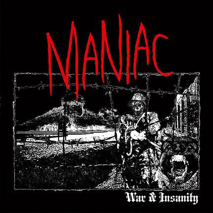 Maniac ‎– War & Insanity LP (Clear Vinyl) - Grindpromotion Records